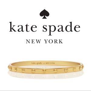 Kate Spade   Thin Gold Ball Bangle Bracelet